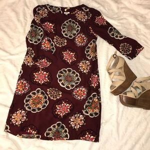 Fossil medallion pattern mini dress